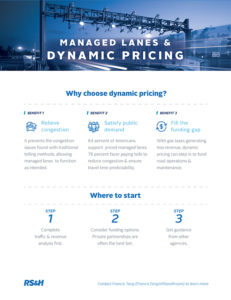 Tip sheet on why to choose dynamic pricing for your transportation project
