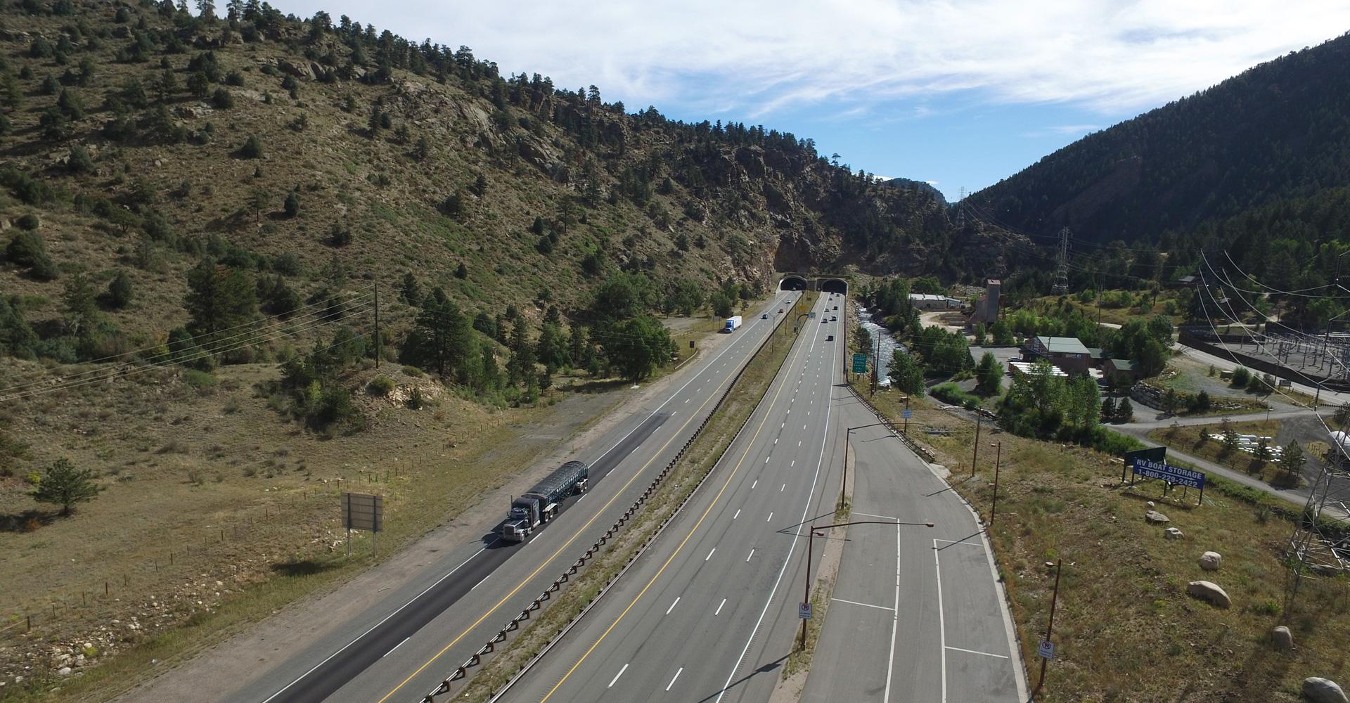 I-70 Mountain Express Lanes (EB Peak Period Shoulder Lanes).