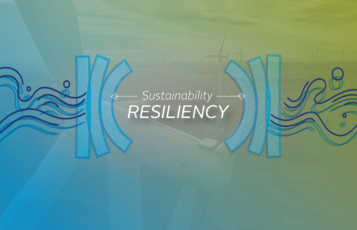Sustainability and resiliency with wind turbines.