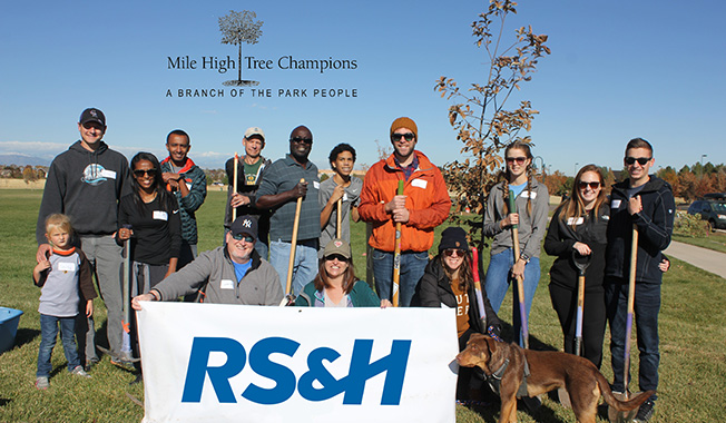 RS&H Associates Get Dirty to Give Back, Enhance Denver Parks.